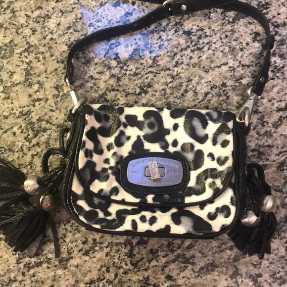e94204379a84 Christian Audigier Handbags - Christian Audigier crossbody leopard print  purse